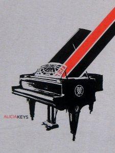 Alicia Keys Piano Grey 30/1 Tee