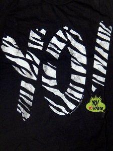 """Yo! Mtv Raps x Junk Food """"Zebra Logo"""" Tee"""