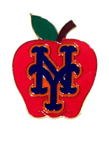 SPECIAL NEW YORK METS APPLE PIN