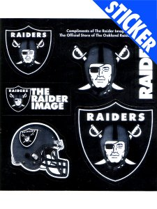 NFL OAKLAND RAIDERS STICKER SET (6pcs)
