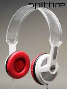 SPITFIRE R4 CLEAR WHITE HEADPHONES