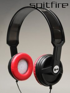 SPITFIRE R4 BLACK RED HEADPHONES