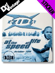 "'96 XZIBIT ""At The Speed Of Life"" Sticker"