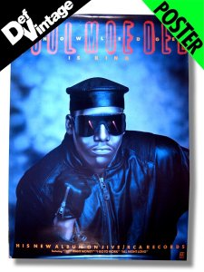 "'89 KOOL MOE DEE ""Knowledge Is King"" Giant Promo Poster"