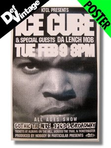 '92 Ice Cube / Da Lench Mob Denver Live Poster