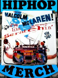 "Malcolm Maclaren ""Scratchin"" Button"