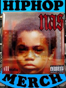 "Nas ""Illmatic"" Can Badge"