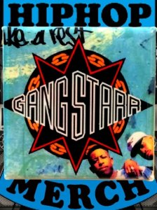"GANGSTARR ""Take A Rest"" Button"