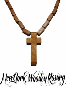 """Wood Cross"" Necklace"