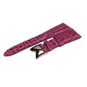 40MM 時計用 ストラップ 牛革[型押し] ピンク