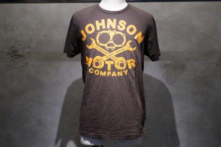 """ジョンソンモータース  """"ロゴTシャツ GASKET COMPANY""""  【ブラックタール】"""