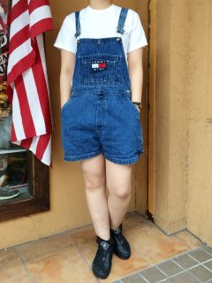 【USED】  BOOTLEG TOMMY HILFIGER TOMMY GIRL DENIM SHORT OVER ALL