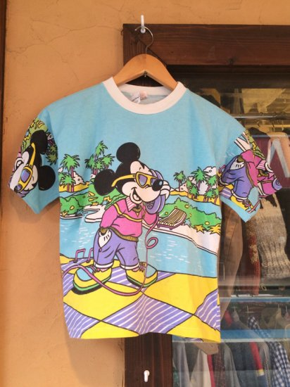 【USED】 EURO Disney Mickey Mouse S/S TEE