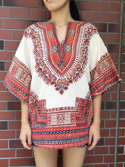 【USED】 VINTAGE DASHIKI TUNIC