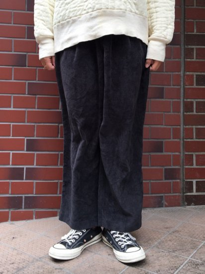 【USED】 CORDUROY EASY SLACKS