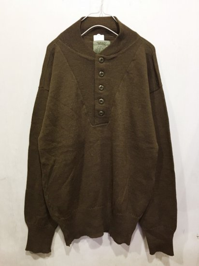 【USED】MILITARY HENRY NECK SWEATER