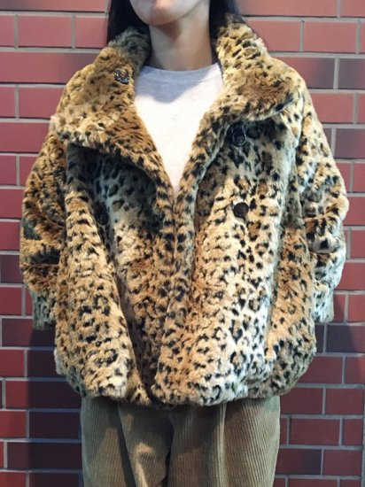【USED】FREE PEOPLE FUR LEOPARD JACKET