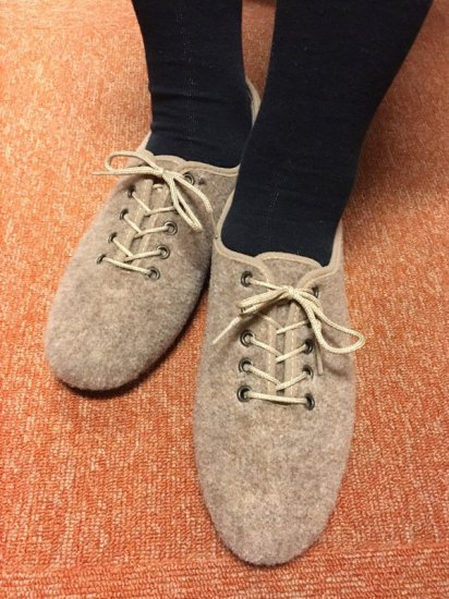 ★30%OFF★【NEW】JAVERFLEX FELT JAZZ SHOES<br>MADE IN FRANCE BEIGE