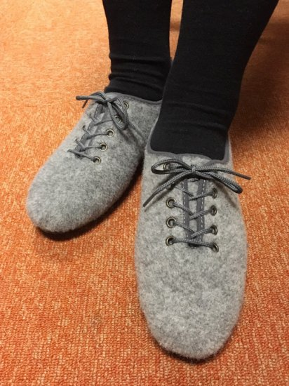 ★30%OFF★【NEW】JAVERFLEX FELT JAZZ SHOES<br>MADE IN FRANCE GRAY