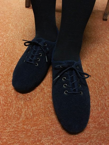 ★30%OFF★【NEW】JAVERFLEX FELT JAZZ SHOES<br>MADE IN FRANCE NAVY