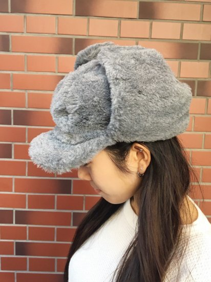 【DEAD STOCK】FAKE FUR MILITARY BOMBER CAP
