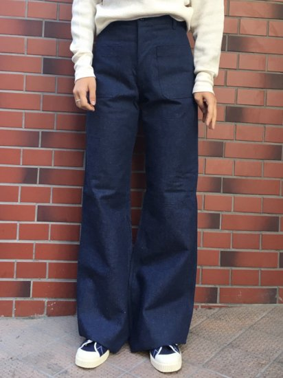 【DEAD STOCK】U.S NAVY SAILOR MARINE PANT W28R