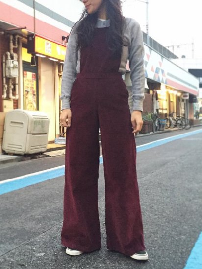 【USED】CORDUROY OVERALL
