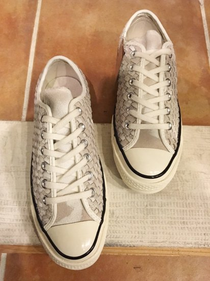 【NEW】CONVERSE ALL STAR CHUCK TAYLOR CT70 Woven Suede LO WHITE