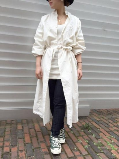 ★再入荷★【DEAD STOCK】VINTAGE DOCTOR SMOCK DRESS OFFWHITE