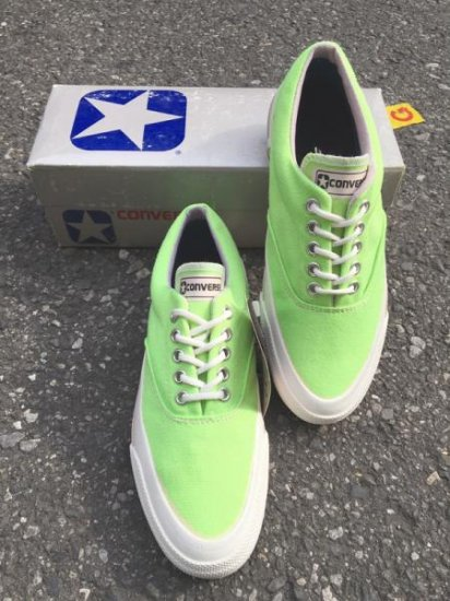 【DEAD STOCK】80's CONVERSE SKIDGRIP LO <BR>NEON GREEN MADE IN U.S.A