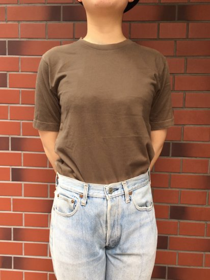 【NEW】Healthknit S/S TEE<BR>BROWN