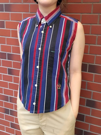 【USED】RE-MAKE TOMMY HILFIGER N/S SHIRT