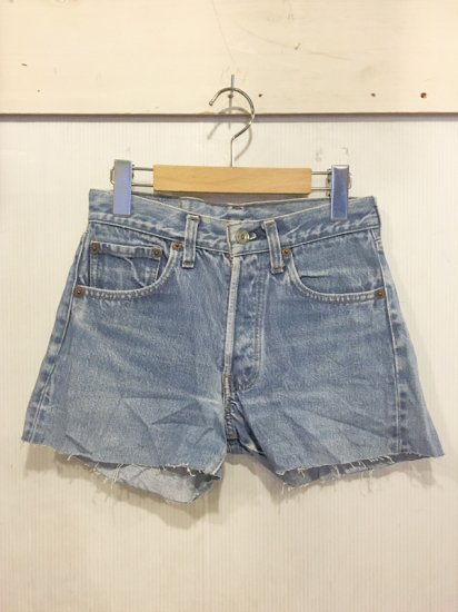 【USED】VINTAGE Levi's #501 RED LINE DENIM CUT OFF SHORTS