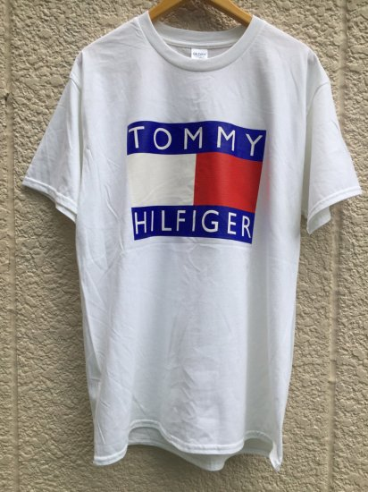 【USED】BOOTLEG TOMMY HILFIGER T-SHIRT WHITE (XL)