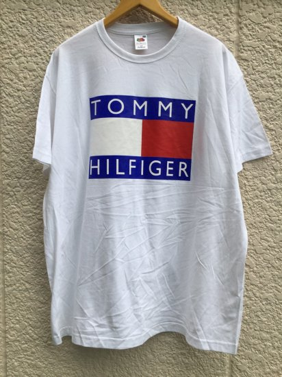 【USED】BOOTLEG TOMMY HILFIGER T-SHIRT WHITE (2XL)