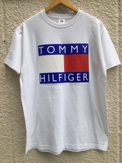 【USED】BOOTLEG TOMMY HILFIGER T-SHIRT WHITE (M)
