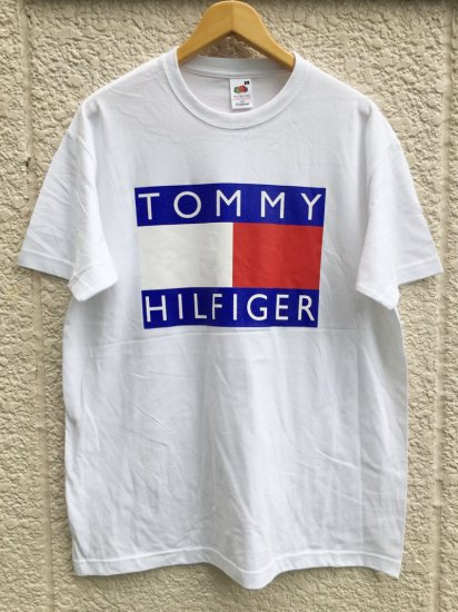 【USED】BOOTLEG TOMMY HILFIGER T-SHIRT WHITE (L)