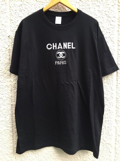 【USED】BOOTLEG CHANEL T-SHIRT BLACK/SILVER (XL)