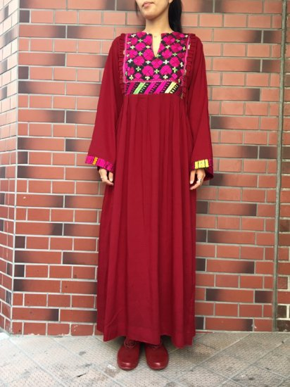 【USED】VINTAGE AFGHAN DRESS