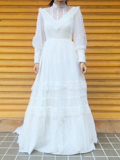 【USED】VINTAGE WEDDING DRESS MADE IN ENGLAND