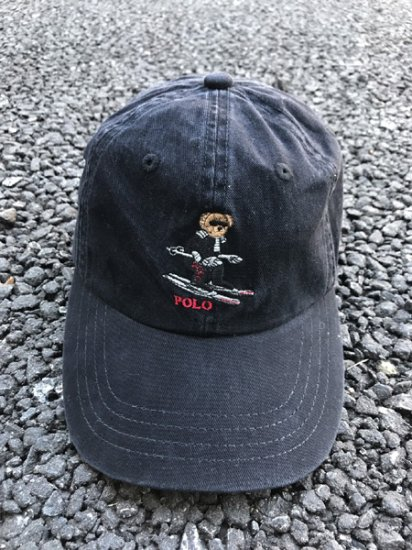 【USED】 POLO RALPH LAUREN Ski Bare Cap Black