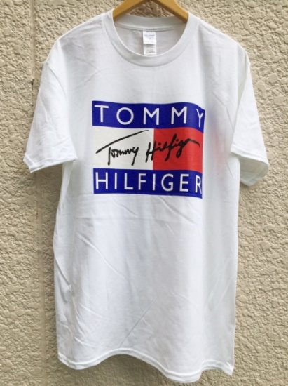 【USED】 BOOTLEG TOMMY HILFIGER T-SHIRT WHITE (XL)