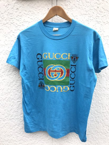 【USED】 BOOTLEG GUCCI T-SHIRT BLUE (M)