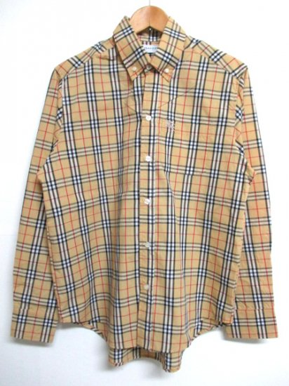 【USED】 Burberrys OF LONDON Check Long Sleeve Shirt (M)