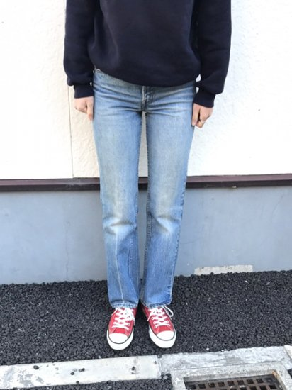 【USED】82's Levi's #519 JEANS DENIM PANTS Blue W29 L30 Made in U.S.A