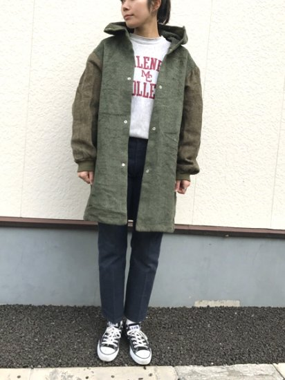 【USED】 61's VINTAGE Military Boa Liner Coat Olive Green L