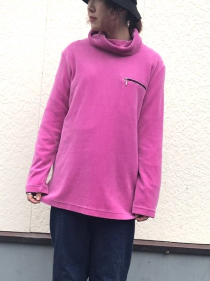【USED】 Pullover Fleece Shirt Pink M