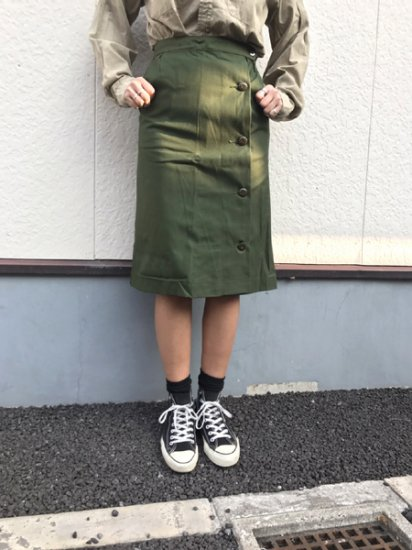 【DEAD STOCK】Sweden Army M-59 Military Wrapped Skirt Olive Green