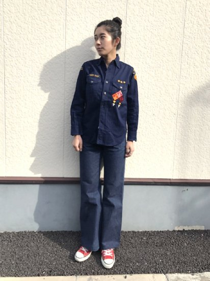 【USED】 50's〜60's Vintage Official Boyscout Shirt Navy