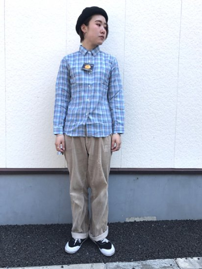 【DEAD STOCK】 Lee Check Work Shirt Blue M